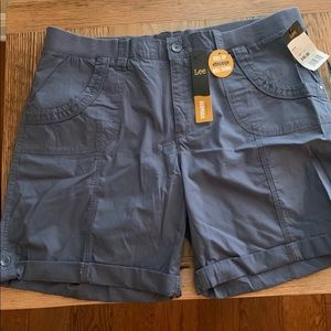 Lee relaxed fit indigo blue shorts, size 18, NWT